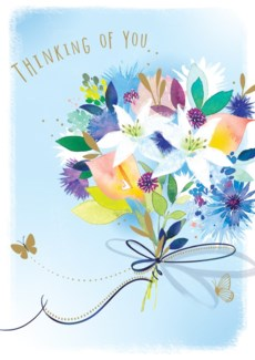 Lilies and Cornflowers 5x7|Ling Design