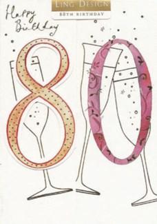 80th Birthday 5x7|Ling Design