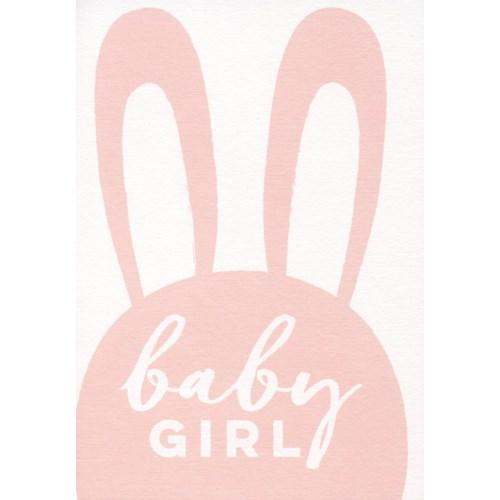 Baby Girl Bunny 5x7|Ling Design