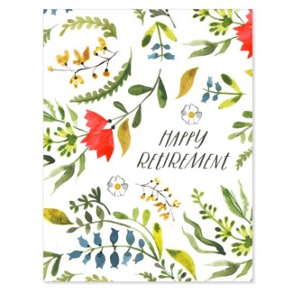 Retirement Floral 4.5x5.5|Loose Leaves