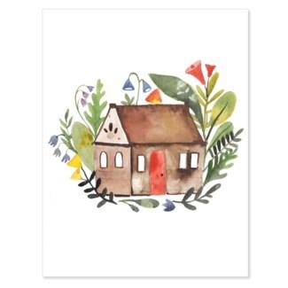 Big Flowers Little House 4.5x5.5 Loose Leaves
