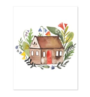 Big Flowers Little House 4.5x5.5|Loose Leaves