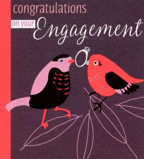 Engagement Birds 4.75x5.25|Liz and Pip