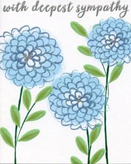 Blue Flowers 6.5 x 5|Liz and Pip