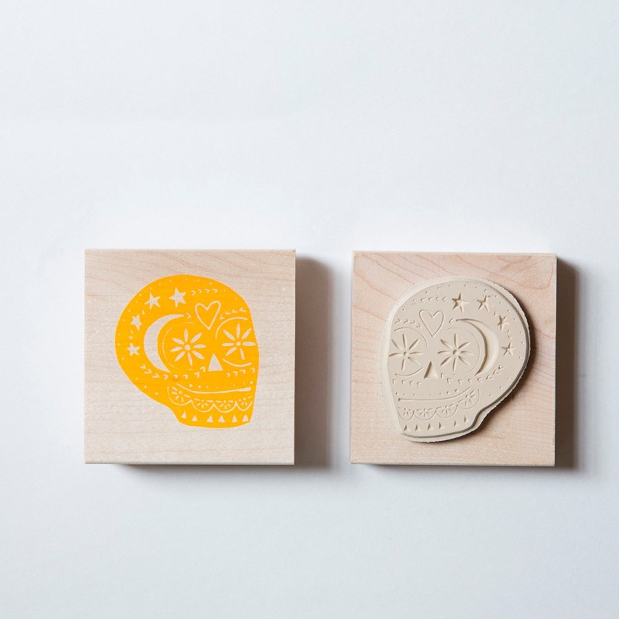 Individual Loose Stamp - Day of the Dead Skull