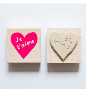 Individual Loose Stamp - Heart Je T'Aime