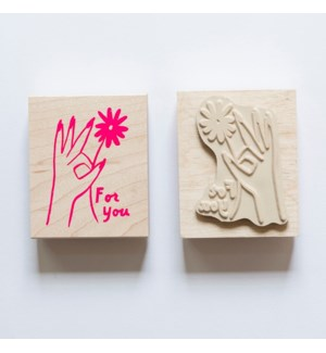 Individual Loose Stamp - Hand Flower For You