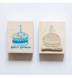 Individual Loose Stamp - Burger Birthday