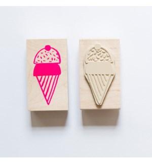 Individual Loose Stamp - Ice Cream Cone