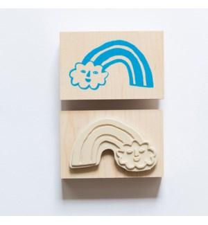 Individual Loose Stamp - Rainbow Cloud