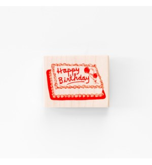 Individual Loose Stamp - Happy Birthday Cake