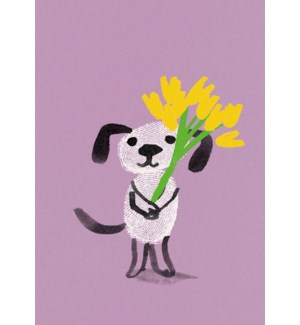 Dog with Flowers|Art Press