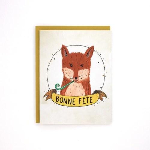 Birthday Fox French 4.25x5.5|Made In BV