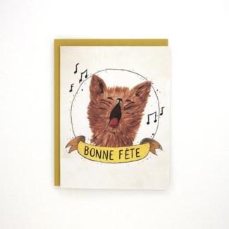 Birthday Cat French 4.25x5.5|Made In BV