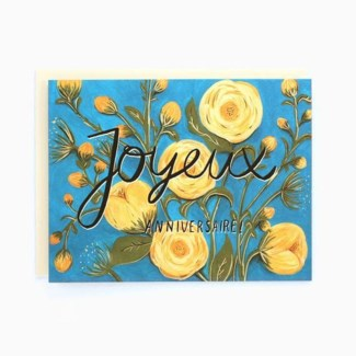 Birthday Peonies French 4.25x5.5|Made In BV