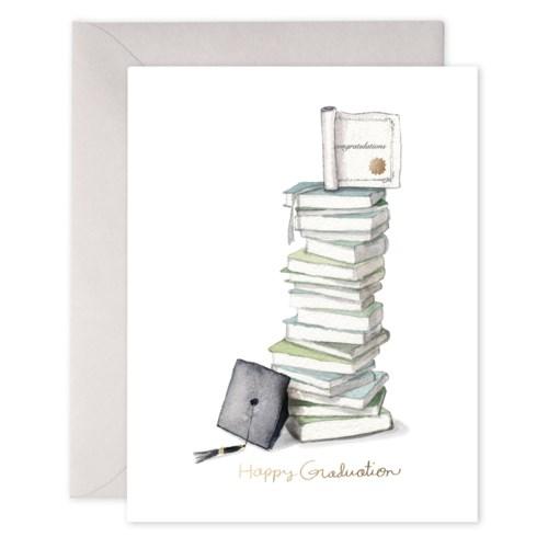 Grad Book Stack|E Frances Paper