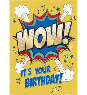Wow Birthday 5x7 |Museums Galleries