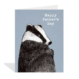 Badger Father Day 4.25x5.5|Halfpenny