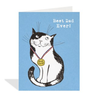 Best Dad Ever Cat 4.25x5.5|Halfpenny