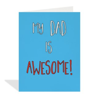 Dad is Awesome 4.25x5.5|Halfpenny