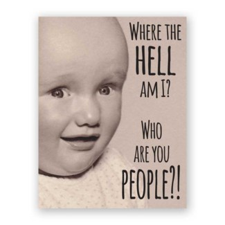Who are You People Baby Card|Mincing Mockingbird