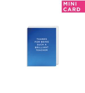 MINI CARD-Brilliant Teacher|Lagom Design
