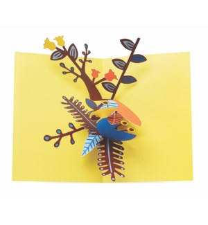 Playful Leaves-Boxed Cards  6 cards & envelopes