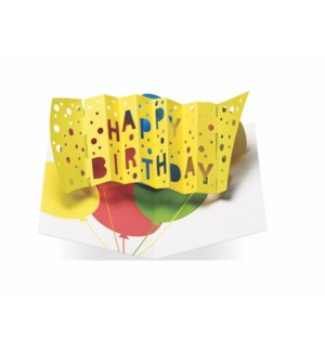 Birthday Balloons-Boxed Cards  6 cards & envelopes