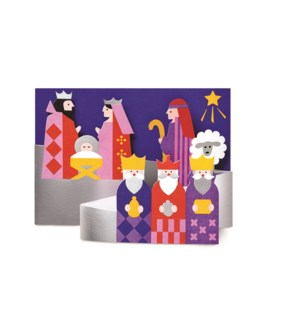Hucek Modern Nativity box of 8