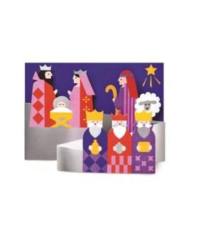 Hucek Modern Nativity box of 8