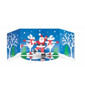 Skating Santa-Boxed Cards  8 cards - AVAIL SEPT 2019