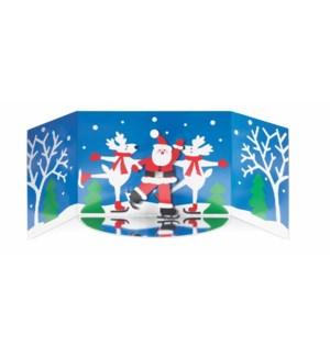 Skating Santa-Boxed Cards  8 cards - AVAIL SEPT 2019