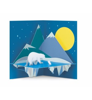 Moonlit Polar Bear-Boxed Cards  8 cards - AVAIL SEPT 2019