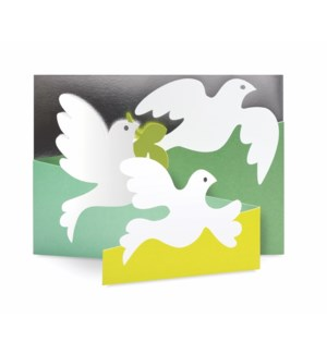 Olive Doves-Boxed Cards  8 cards - AVAIL SEPT 2019