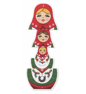 Merry Matryoshka-Boxed Cards  8 cards - AVAIL SEPT 2019