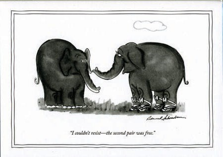 Elephants I couldn't Resist 5x7|New Yorker