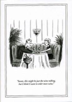 Wine talking 5x7|New Yorker