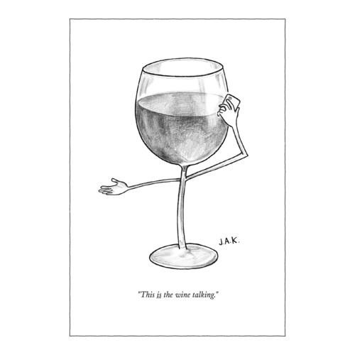 The Wine Talking 5x7|New Yorker