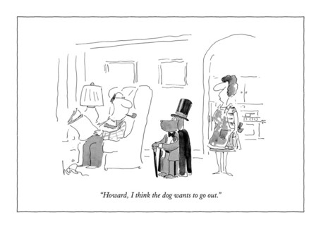 The Dog Wants To Go Out 5x7|New Yorker