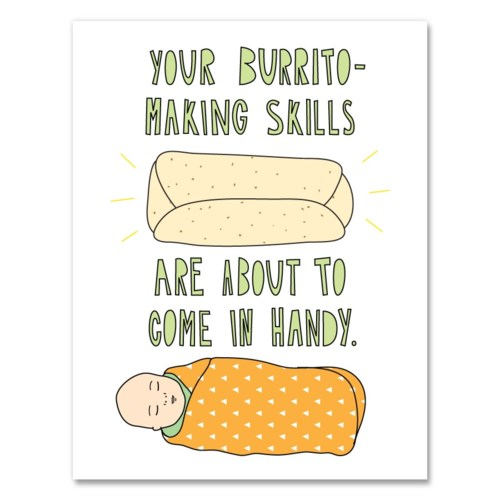 Burrito Baby 4.25 x 5.5|Near Modern Disaster