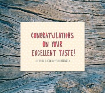 Excellent Taste 4.25x5.5|Near Modern Disaster
