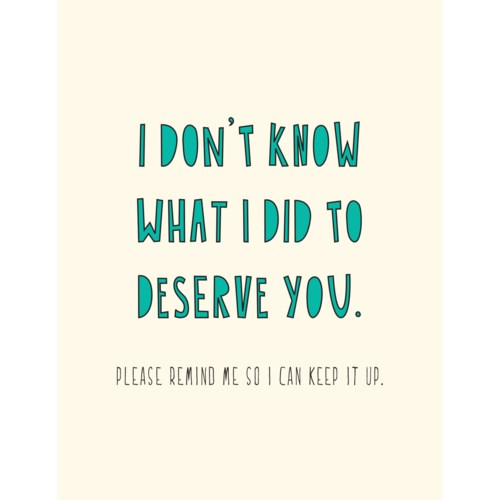 Deserve you 4.25x5.5|Near Modern Disaster