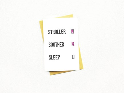 Stoller Soother Sleep  4x6.5|Nocturnal Paper