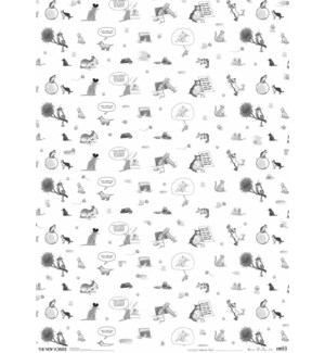 The New Yorker Cats Giftwrap