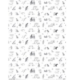 The New Yorker Dogs Giftwrap