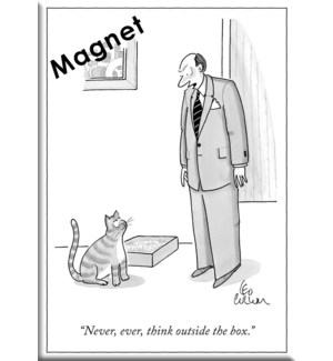 Think Outside The Box - Ny'Er Hard Magnet