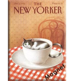 Cat In A Tea Cup - Ny'Er Cvr Hard Magnet