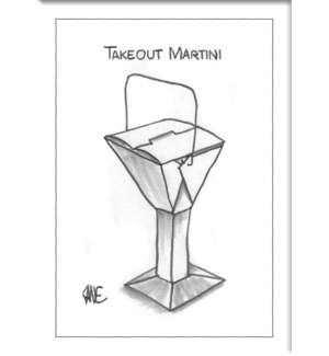 Take Out Martini -  Ny'Er Hard Magnet