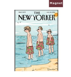 At The Beach - Nyer Hard Magnet