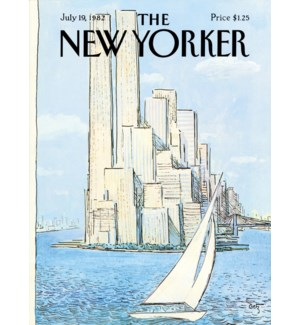 Sailboat Manhattan - NyEr Cvr Hard Magnet